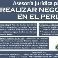 ASESORÍA JURÍDICA PARA REALIZAR NEGOCIOS EN EL PERÚ